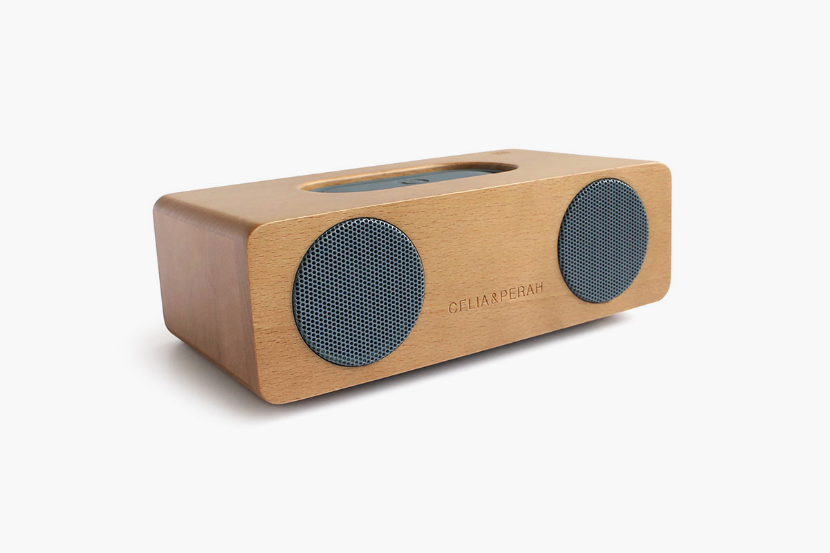 Celia & Perah Wireless Wood Speaker