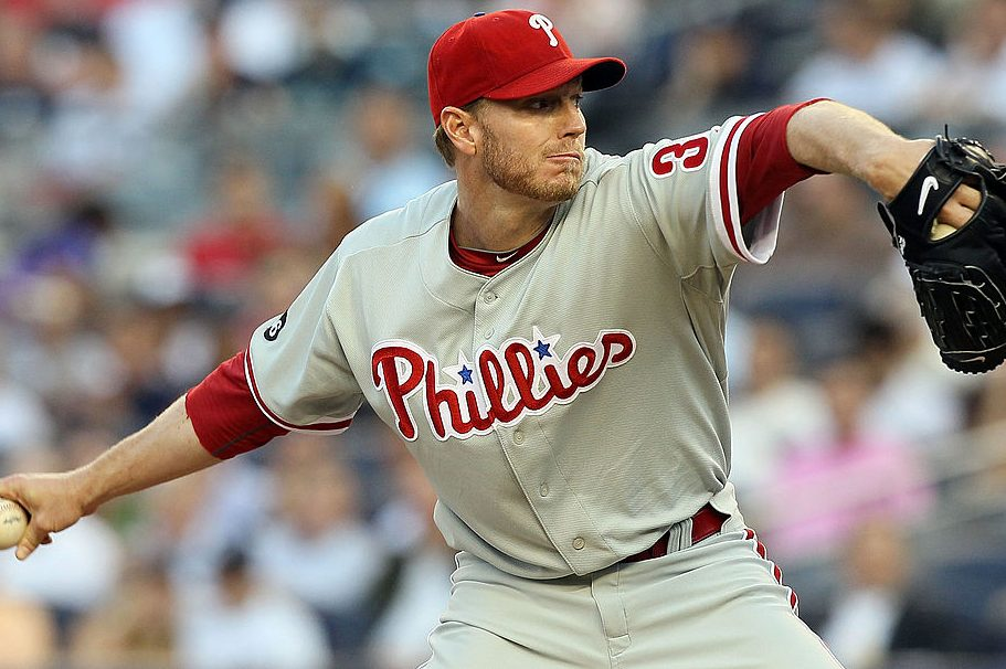 Roy Halladay of the Philadelphia Phillies delivers a pitch in 2010. (Jim McIsaac/Getty)