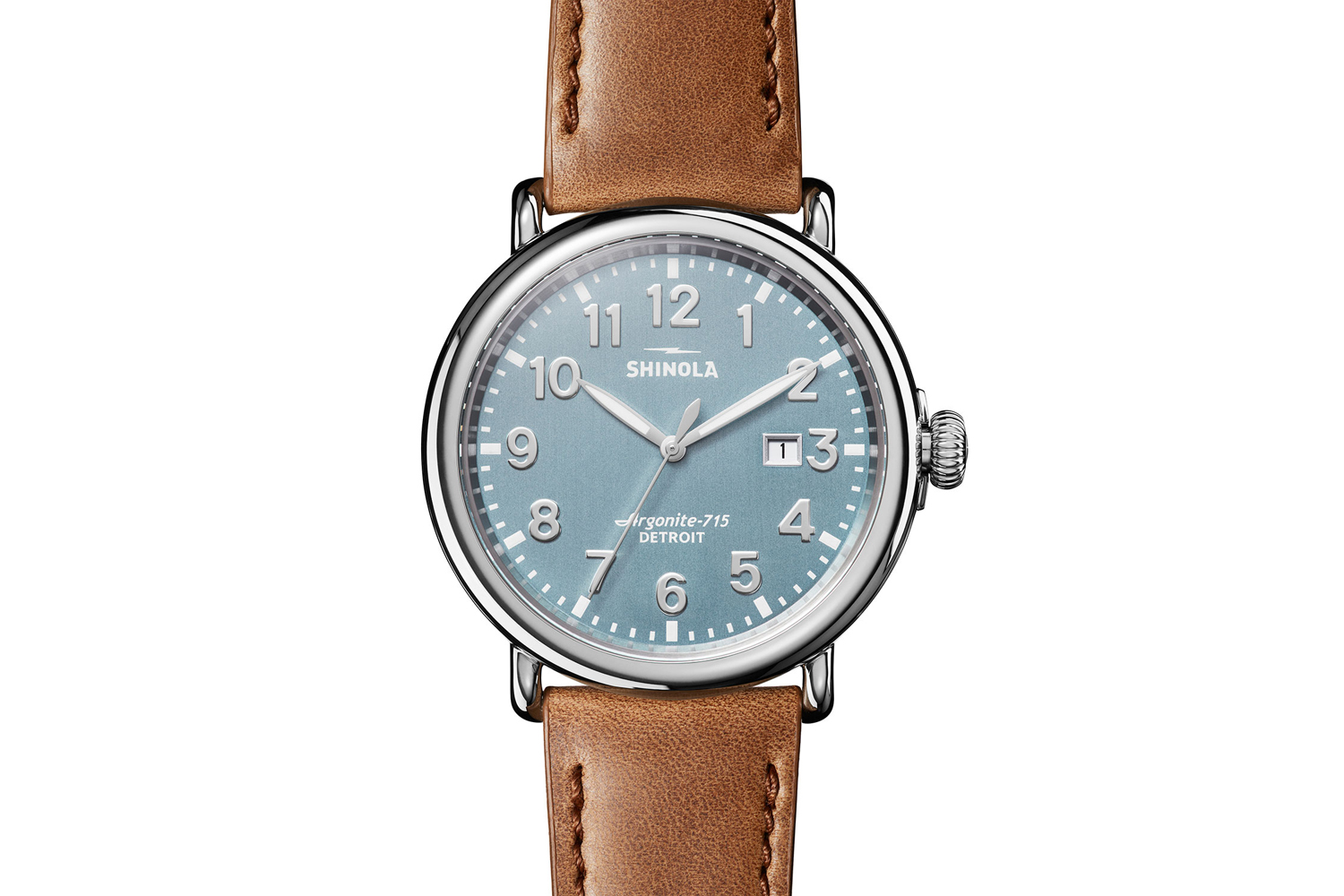 47mm Runwell 3HD Watch with Leather Strap
