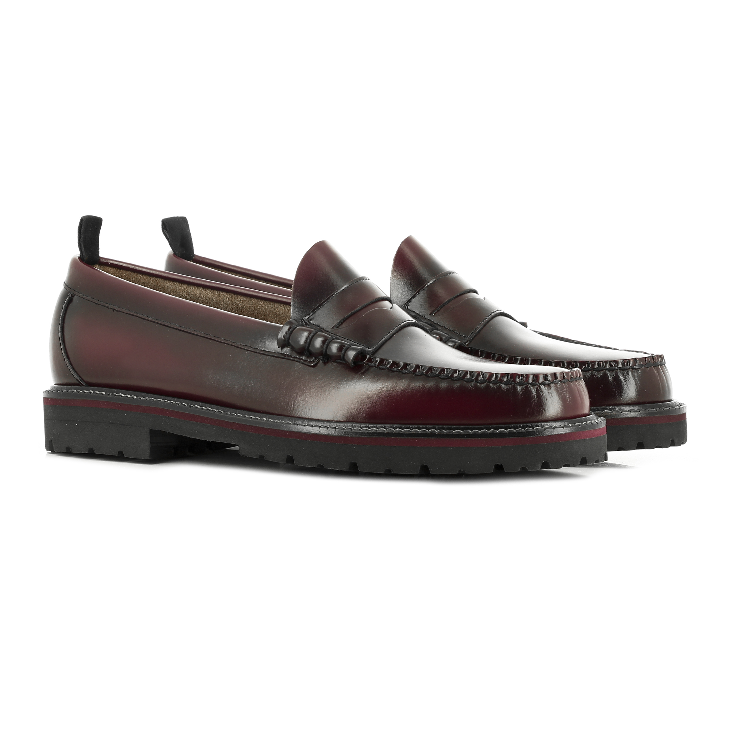 bass fred perry penny loafer
