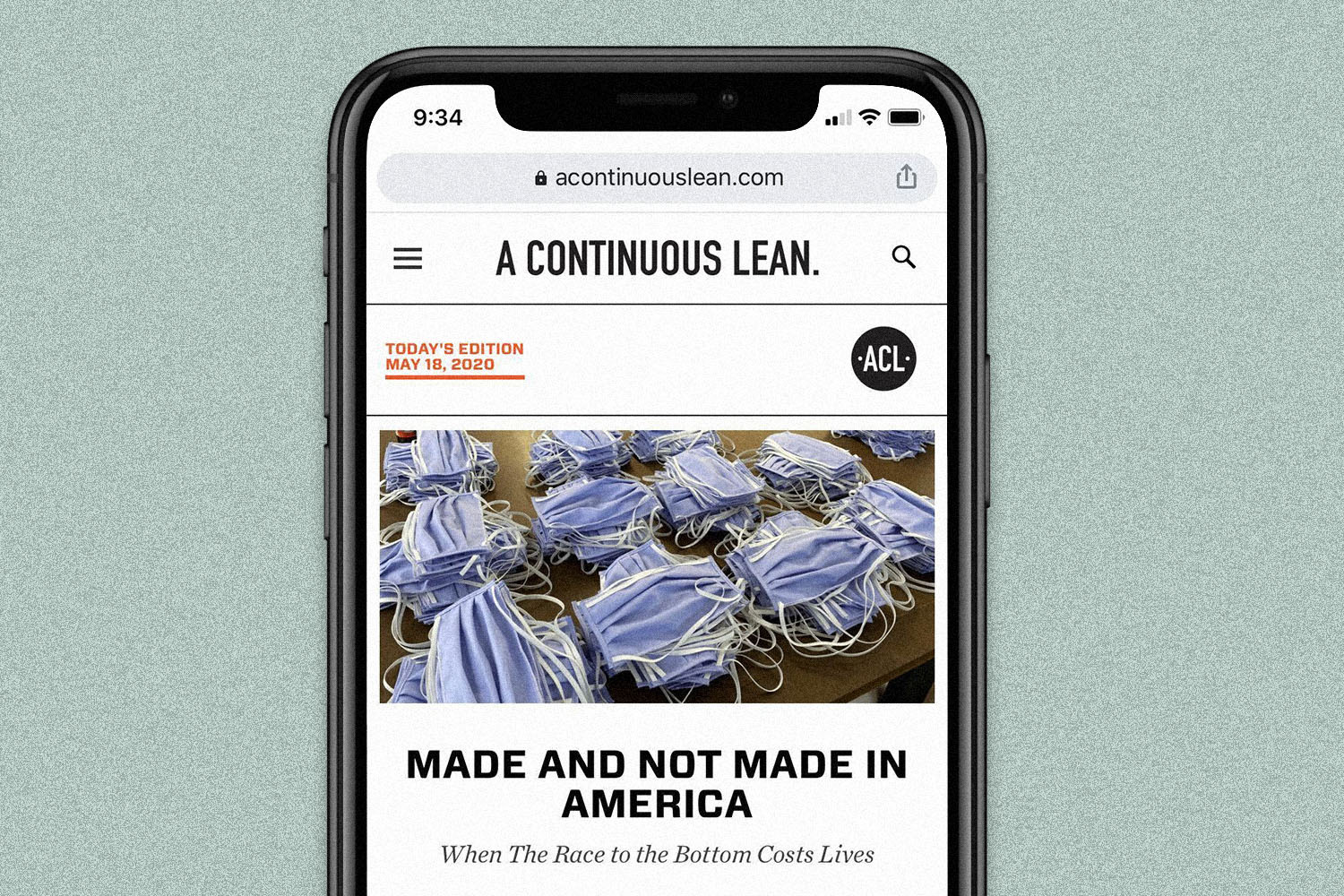 A Continuous Lean is displayed on a smartphone's screen