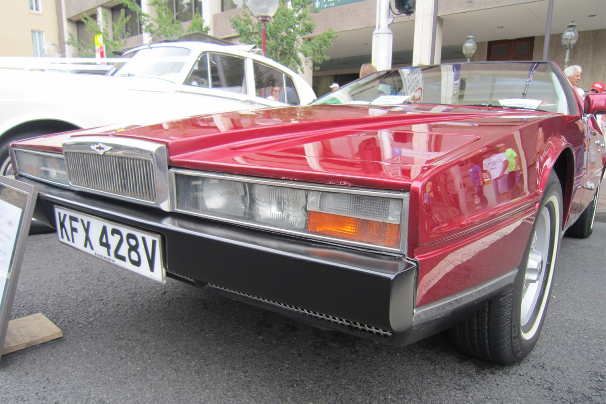 Aston Martin Lagonda Series II in red