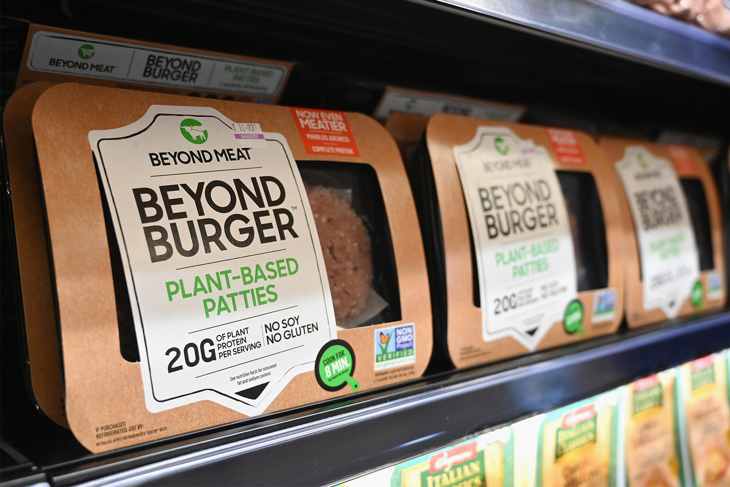 Beyond Burgers from plant-based company Beyond Meat