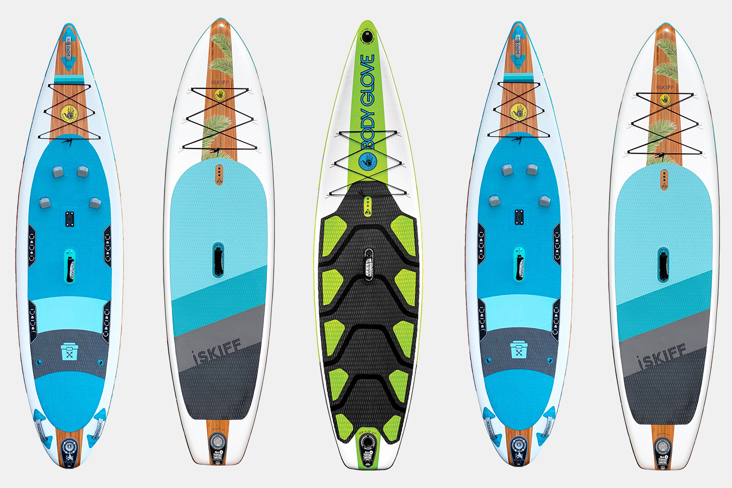 Five Body Glove stand-up paddleboards