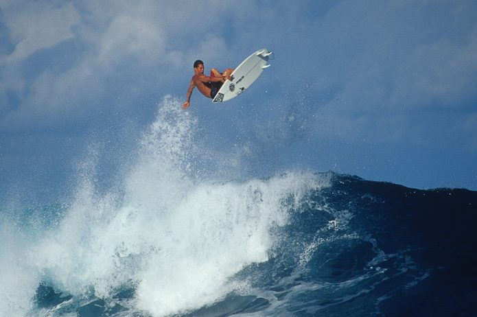 Andy Irons surfing a wave. (Brian Bielmann)