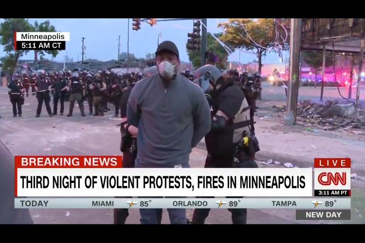 CNN's Omar Jimenez arrested by Minnesota state police covering protests