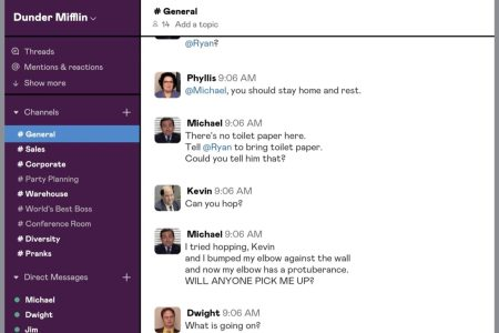 """""""The Office"""" is playing out on Slack in real-time."""