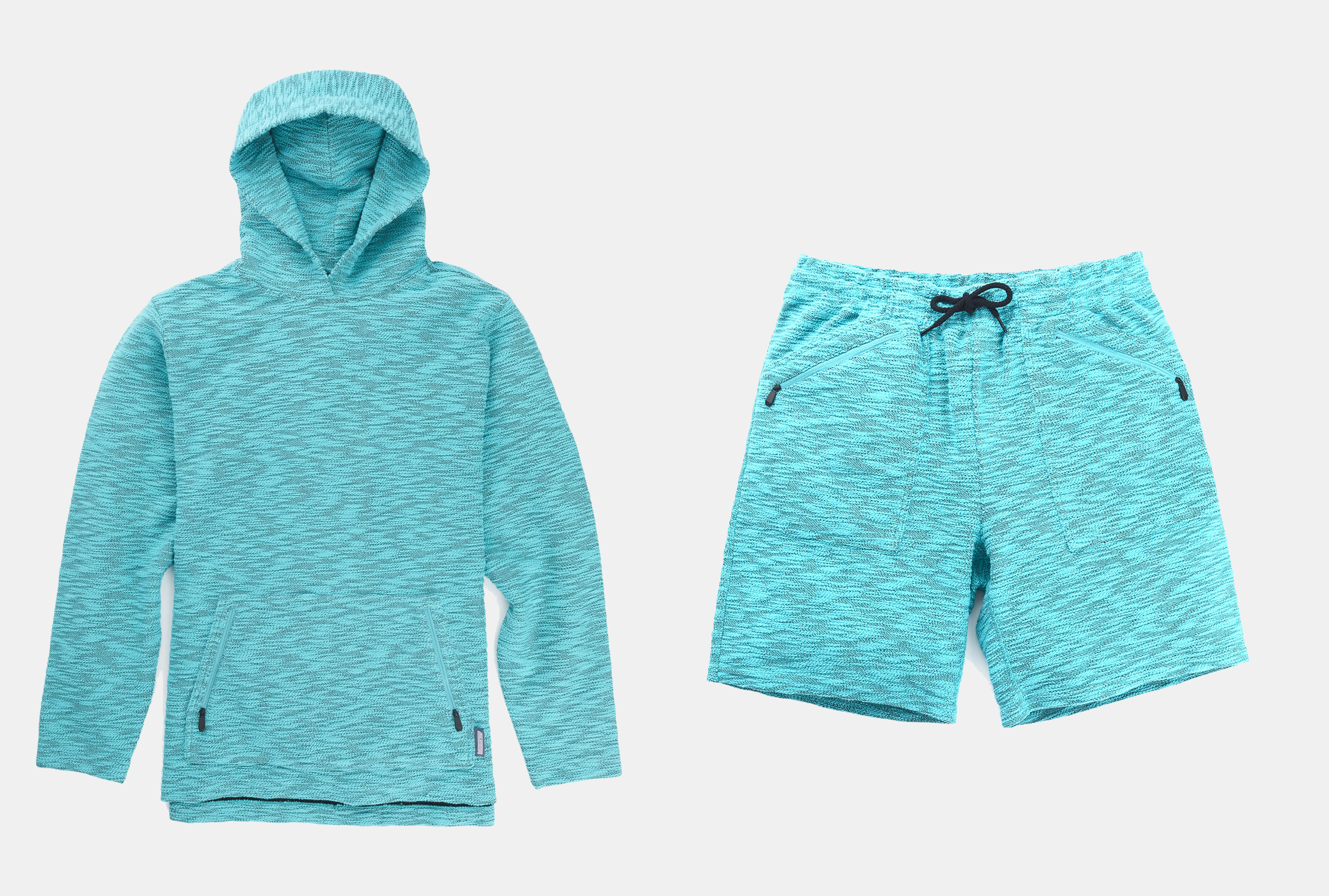 Burton mine 77 french terry hoodie and shorts