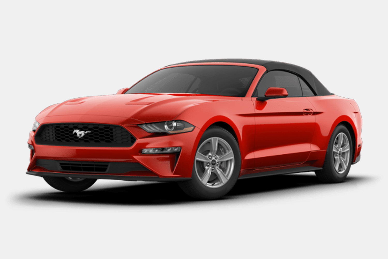 2020 Ford Mustang EcoBoost Convertible in red