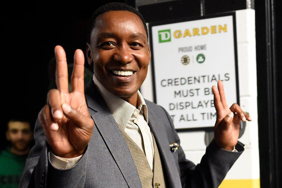 Hall of Famer Isiah Thomas at TD Garden in Boston. (Christopher Evans/Digital First Media/Boston Herald via Getty)