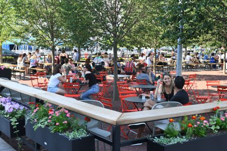 Dacha is a beer garden in Washington DC