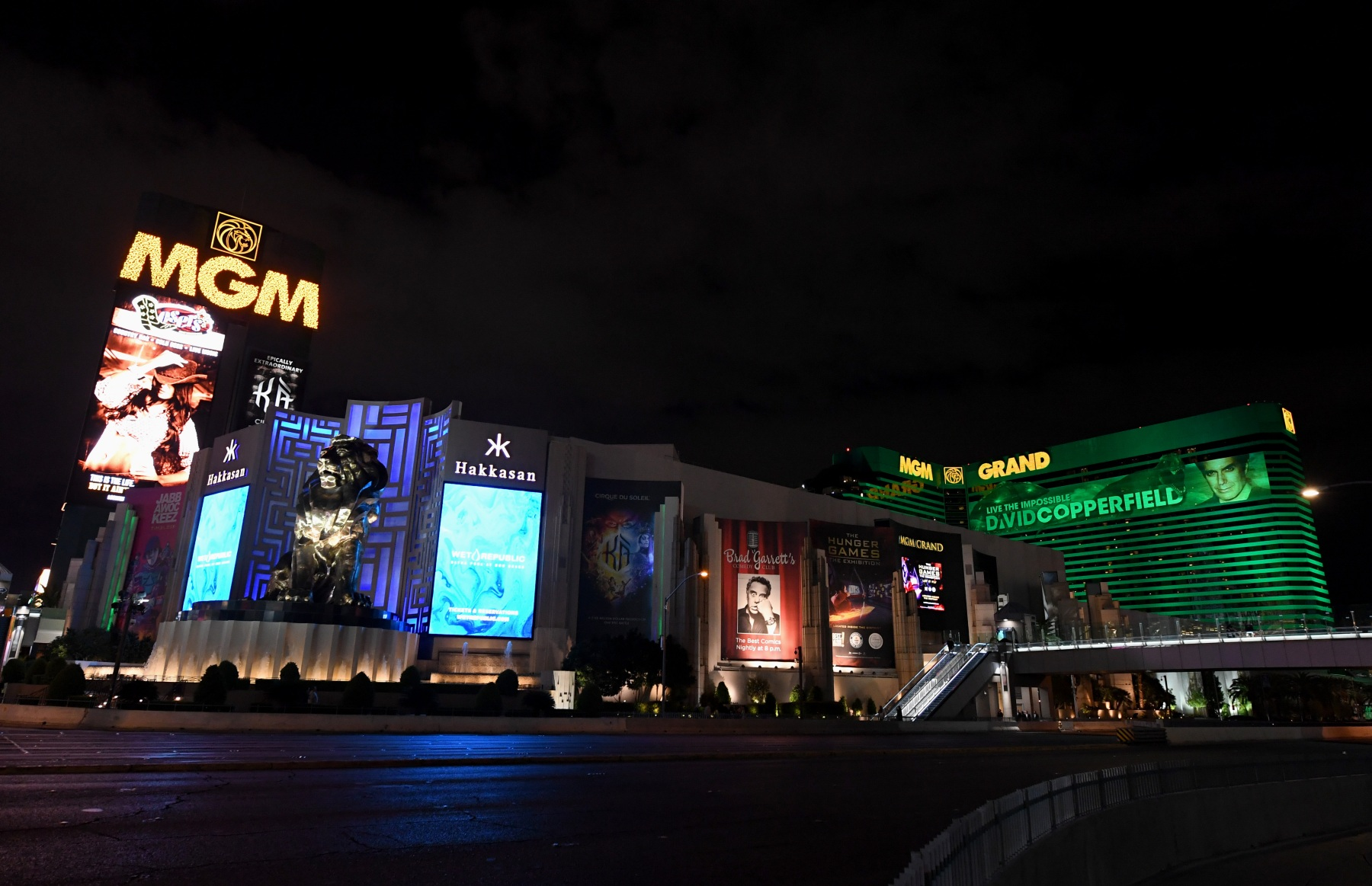 LAS VEGAS, NEVADA - MARCH 14:  An exterior view shows MGM Grand & Hotel & Casino as the coronavirus continues to spread across the United States on March 14, 2020 in Las Vegas, Nevada. Several employees at MGM Resorts International hotel-casinos on the Las Vegas Strip have tested presumptive positive for COVID-19. MGM Resorts International employees who can will start working from home next week. MGM has closed all nightclubs, dayclubs, buffets, spas, gyms and salons at its properties in Las Vegas and on Monday, it will close 150 food and beverage outlets and furloughs and layoffs will begin. The World Health Organization declared the coronavirus (COVID-19) a global pandemic on March 11th.  (Photo by Ethan Miller/Getty Images)