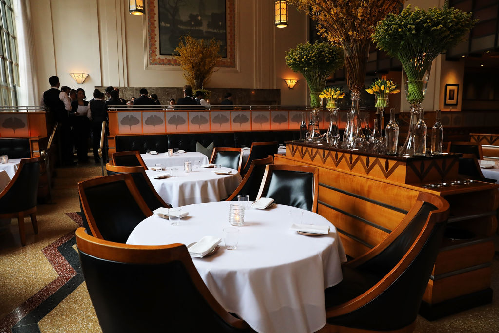 The main dining room is set for dinner at Eleven Madison Park at 11 Madison Avenue in the Flatiron District on April 6, 2017 in New York City. (Photo by Spencer Platt/Getty Images)