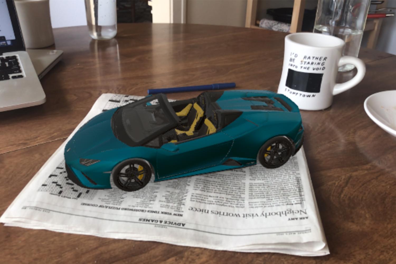 Lamborghini Huracán EVO RWD Spyder augmented reality