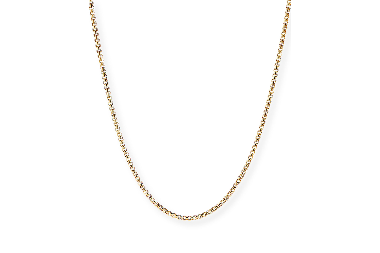 "18k Gold Box Chain Necklace, 24""L David Yurman"