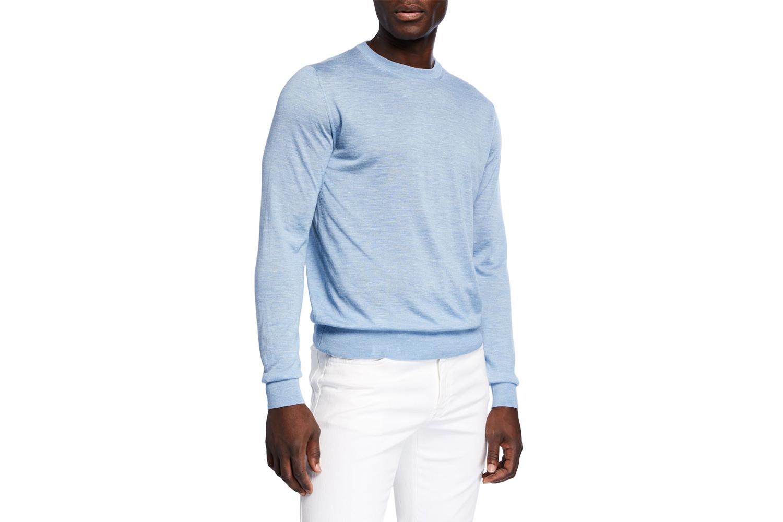 Cashmere-Blend Crewneck Sweater Brioni