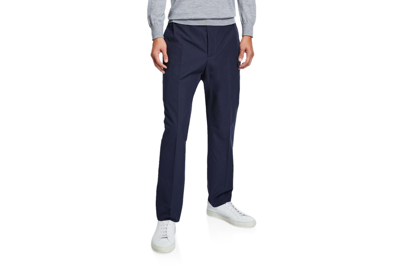 Heavy Cotton Poplin Trousers Gucci
