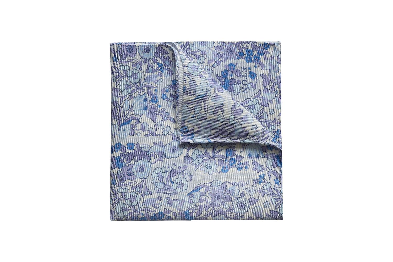 Floral-Print Pocket Square Eton