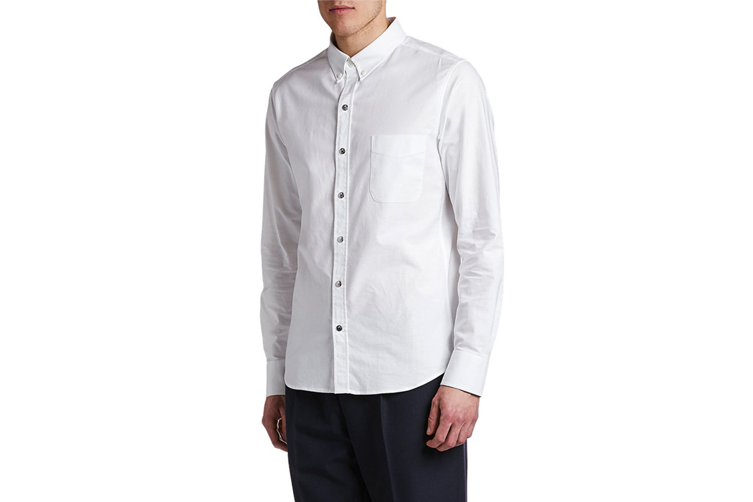 Solid Oxford Sport Shirt with Snaps Moncler