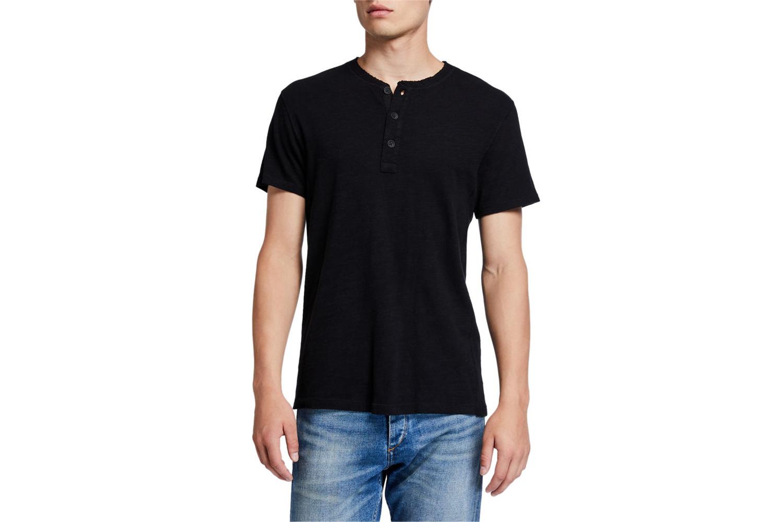 Classic Short-Sleeve Henley Shirt Rag & Bone