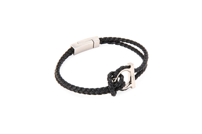 Gancio Braided Leather Rope Bracelet Salvatore Ferragamo