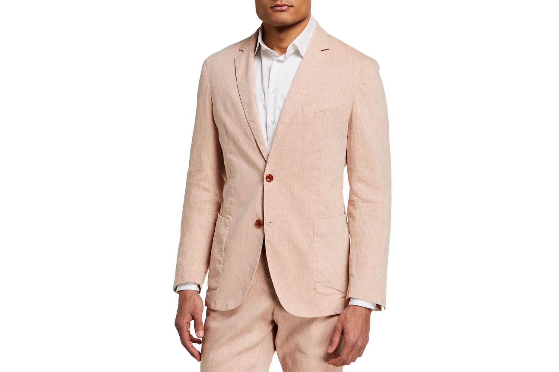 Hanry Linen-Blend Suit Jacket BOSS