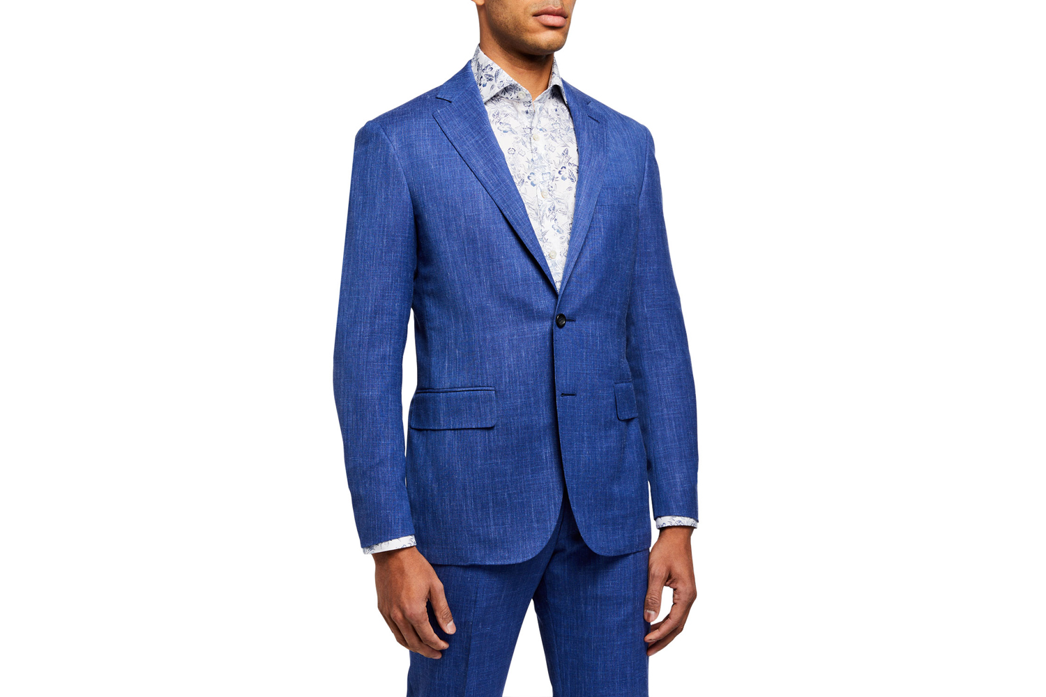 Heathered Two-Piece Suit Canali