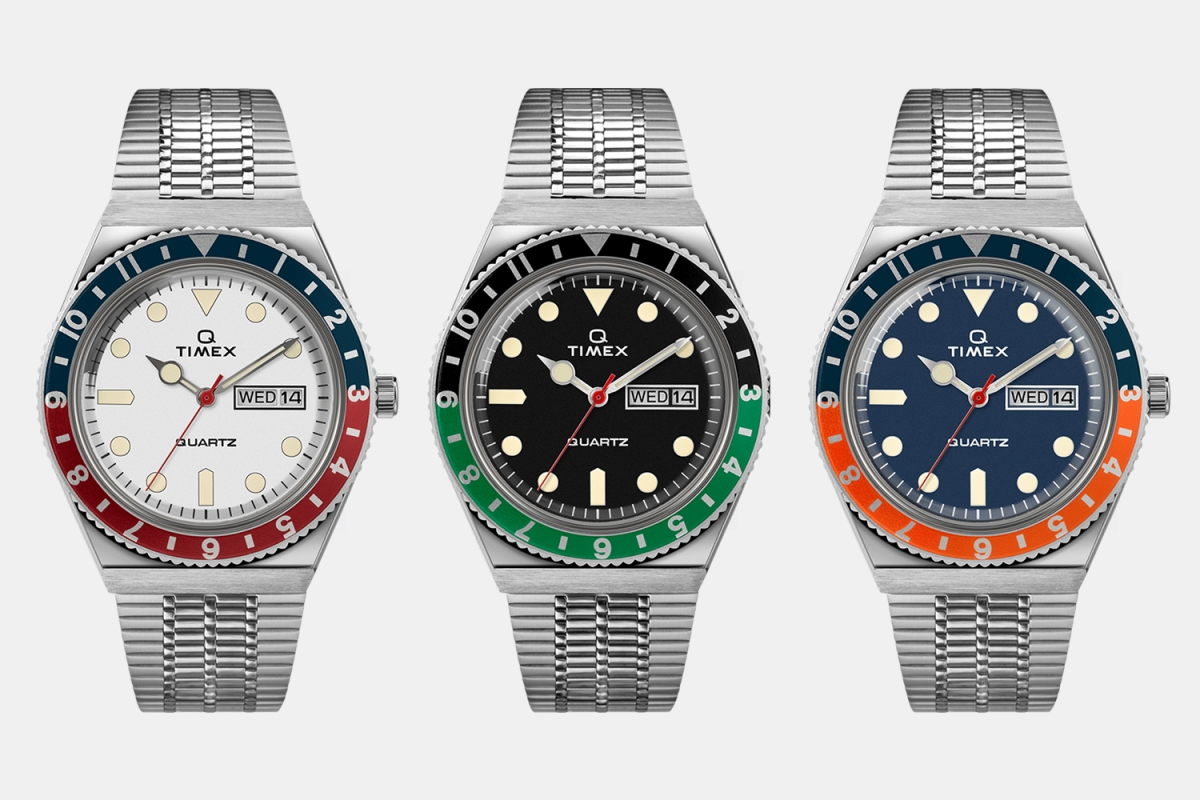Three new colors of the Q Timex watch