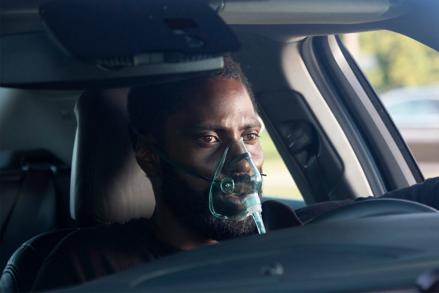 "Actor John David Washington in Christopher Nolan's ""Tenet"""