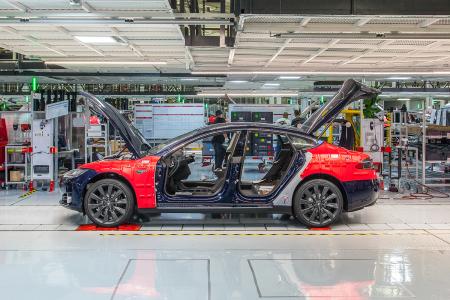 Tesla Fremont car factory
