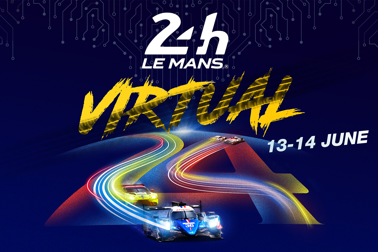 24 Hours of Le Mans Virtual race poster