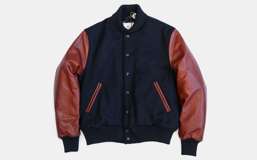 Golden Bear Front Snap Varsity Jacket