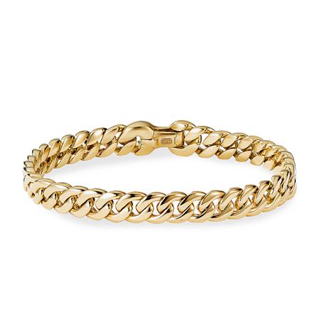 18K Yellow Gold Curb Chain Bracelet David Yurman