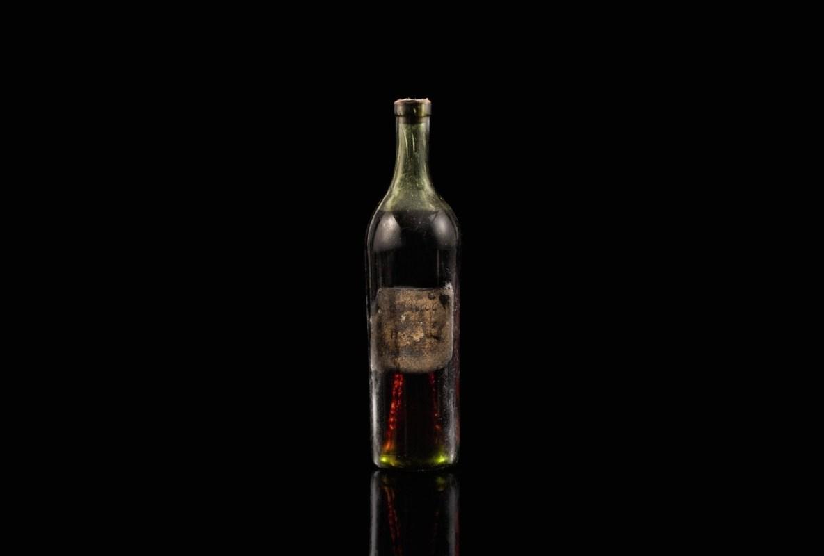 A bottle of Gautier Cognac 1762