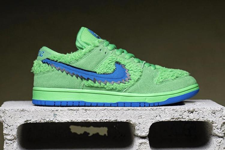 Green Grateful Dead Dancing Bear Nike sneakers