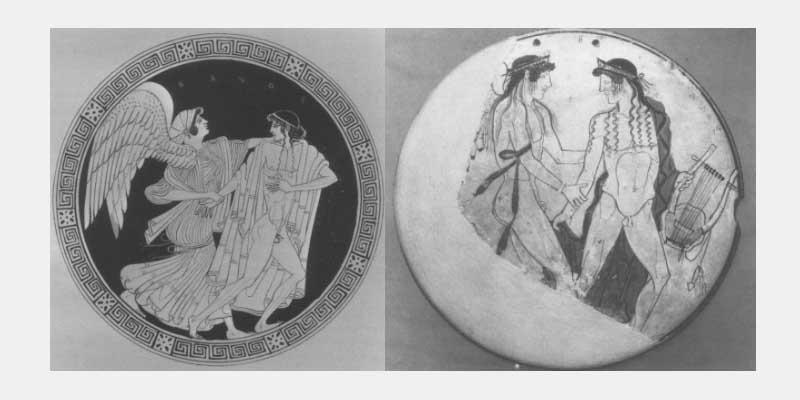 eos zephyros grecian vases