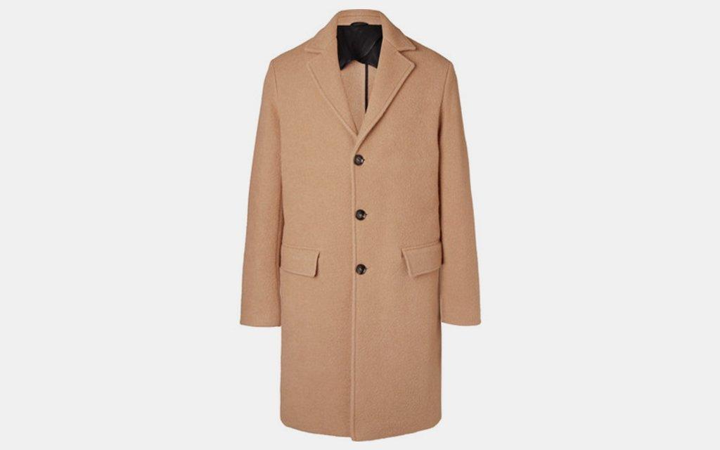 Mr P. Virgin Wool and Camel Hair Blend Overcoat
