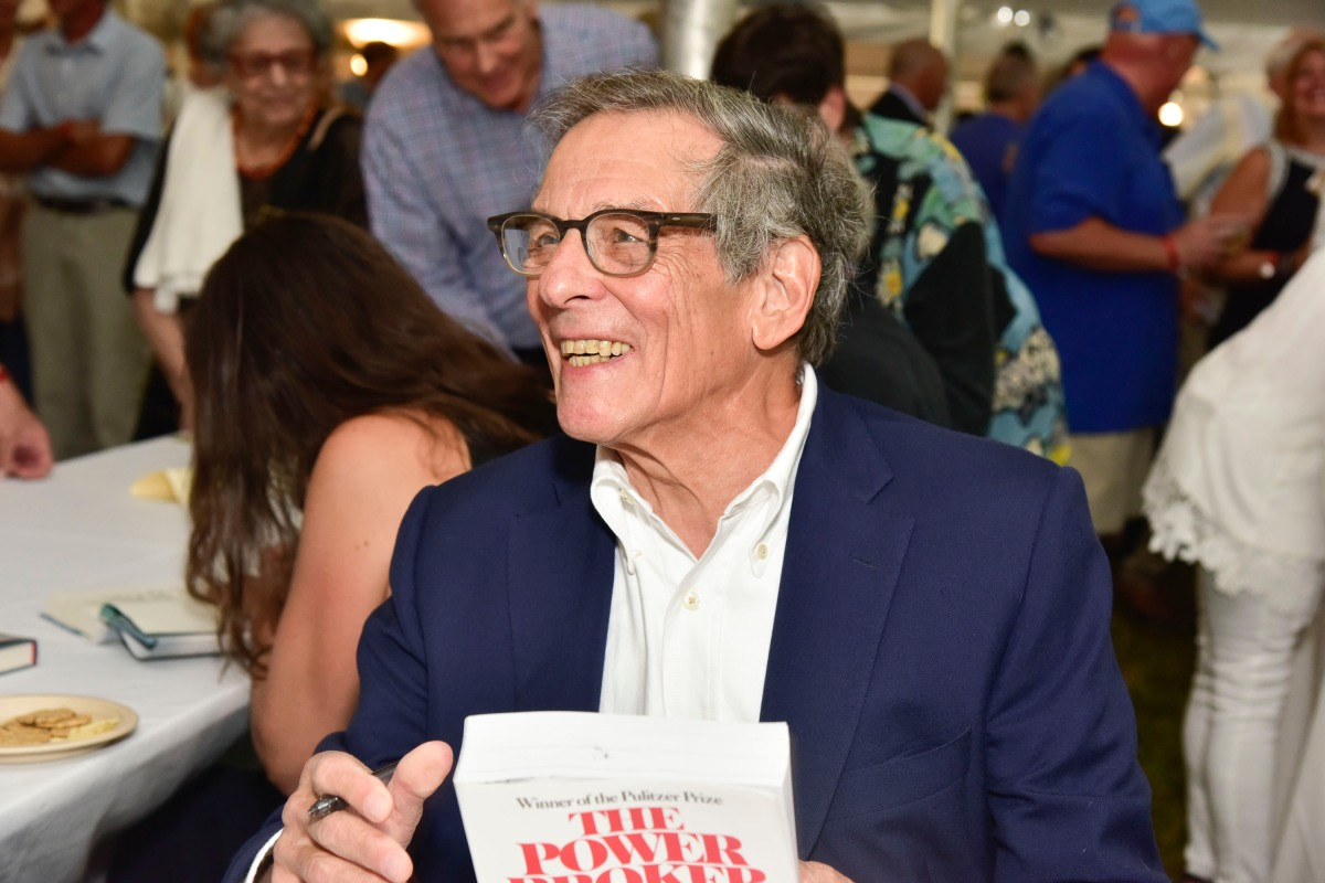 """Author Robert Caro with his book """"The Power Broker"""""""