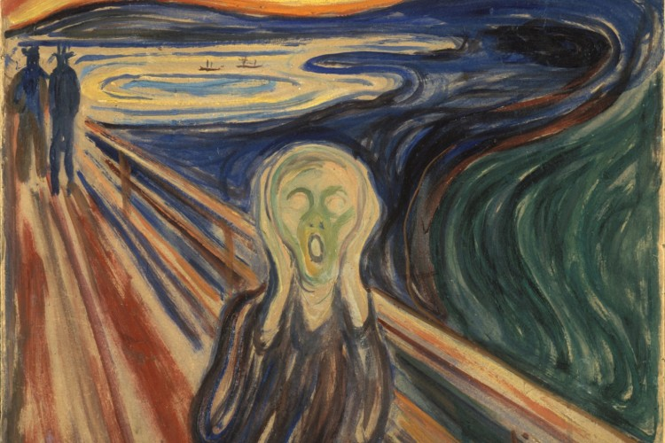 """Detail of """"The Scream"""""""