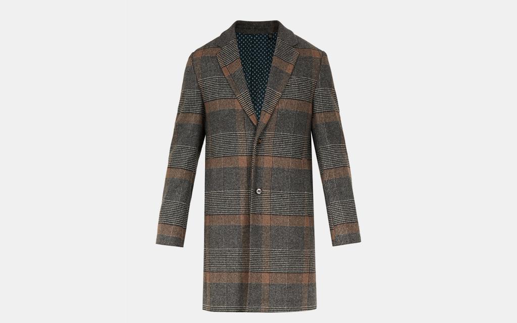 Ted Baker Checked Overcoat