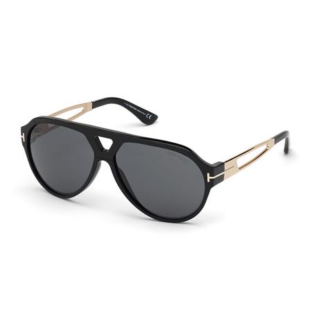 Paul Acetate/Metal Aviator Sunglasses Tom Ford