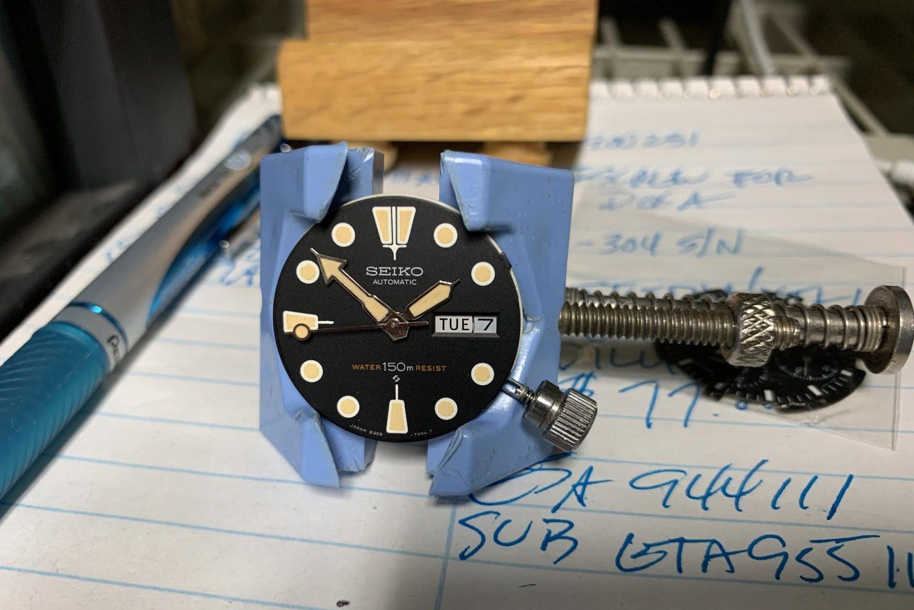 A Seiko watch is modified i