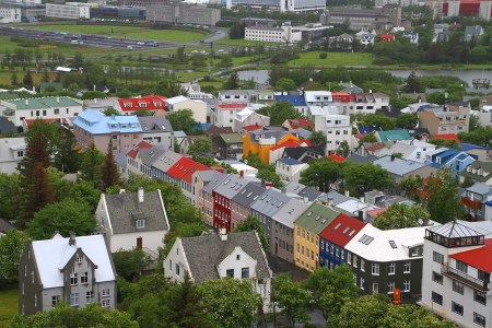 Houses in the city of Reykjavik, Iceland