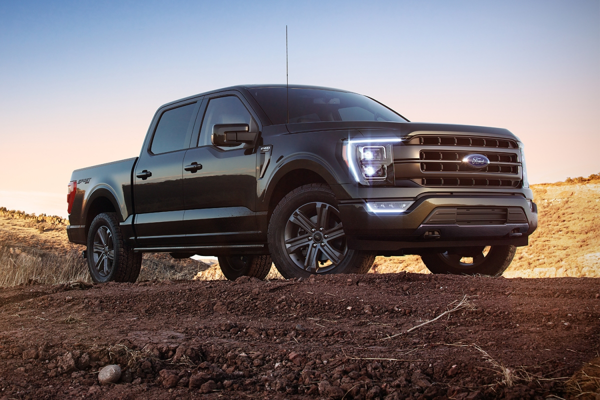 The new 2021 Ford F-150 pickup truck