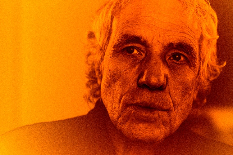 Abel Ferrara stares with focus