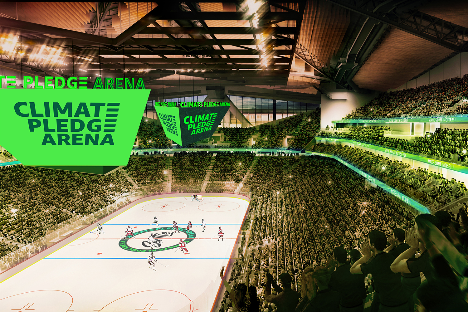 Amazon's upcoming Climate Pledge Arena for NHL Seattle
