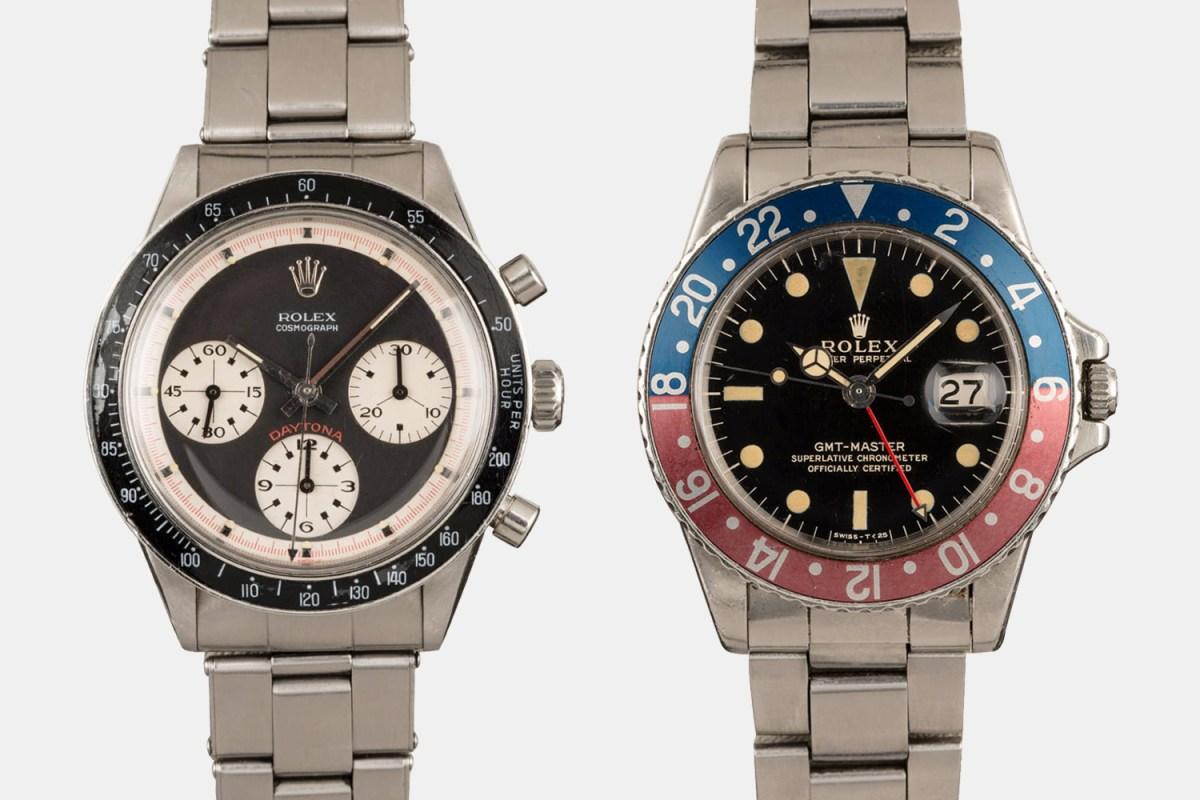 A Rolex Paul Newman Daytona and Pepsi Bezel GMT-Master watch