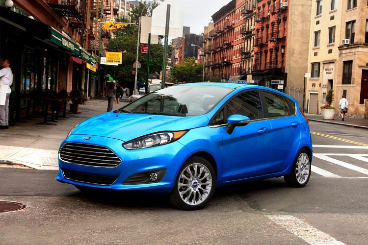 2017 blue Ford Fiesta