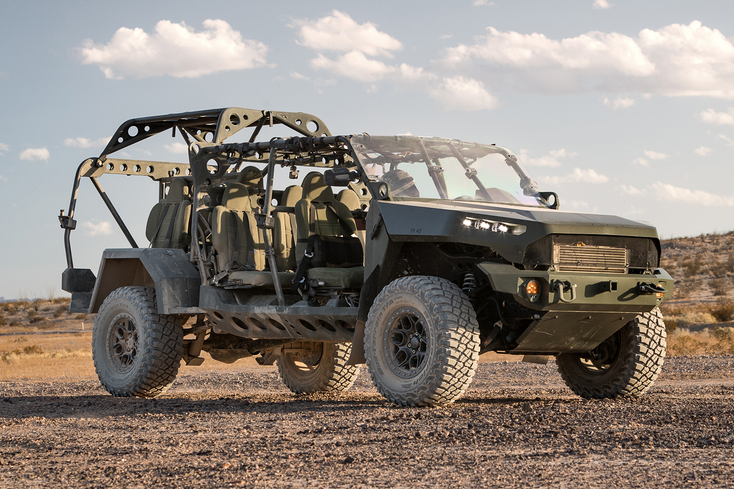 The GM Defense Infantry Squad Vehicle based on the Chevy Colorado ZR2 truck