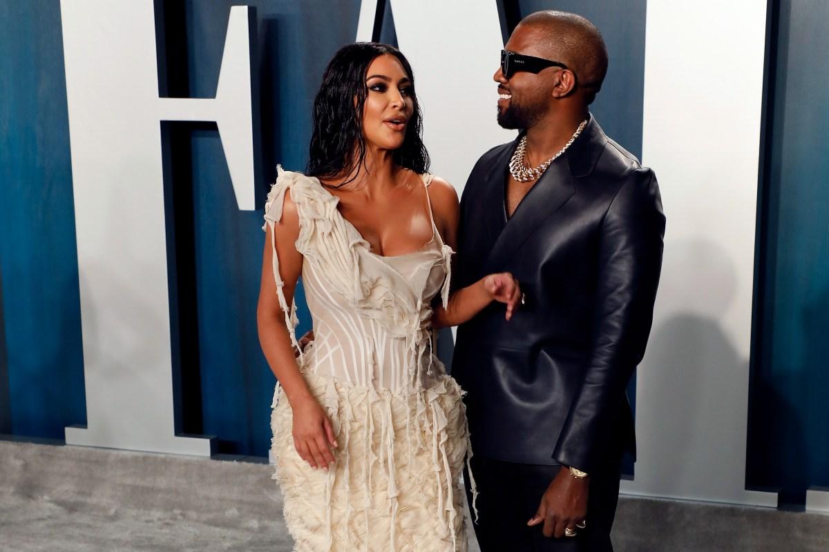Kanye West and Kim Kardashian walk the red carpet